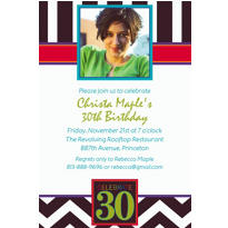 30th Celebration Custom Photo Invitation