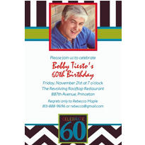 60th Celebration Custom Photo Invitation
