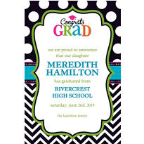 Bright Congrats Grad Custom Announcement