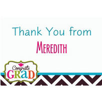 Bright Congrats Grad Custom Thank You Note