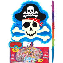 Pull String Skull and Crossbones Pinata Kit