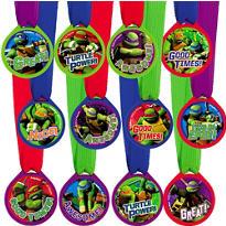 Teenage Mutant Ninja Turtles Award Medals 12ct