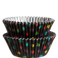 Black Neon Polka Dot Baking Cups 36ct