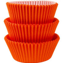 Orange Baking Cups 75ct