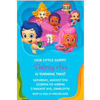 Bubble Guppies Custom Invitation