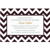 Black & White Chevron Custom Invitation