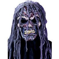 Hooded Zombie Skull Mask