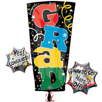 Colorful Grad Letters Graduation Balloon