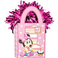 1st Birthday Minnie Mouse Balloon Weight