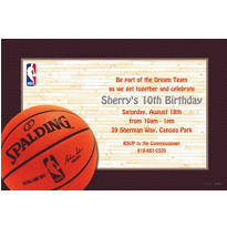 NBA Spalding Custom Invitation