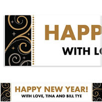 Sparkling New Year Custom Banner
