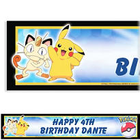 Pikachu and Friends Custom Banner