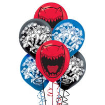 Happy Birthday Power Rangers Balloons 6ct