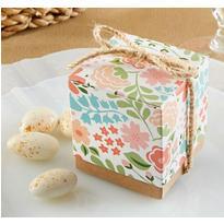 Vintage Floral Wedding Favor Boxes
