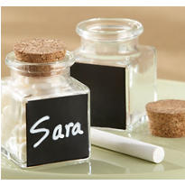 Chalkboard Small Glass Bottles with Corks