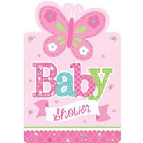 Girl Baby Shower Invitations 8ct - Welcome Little One