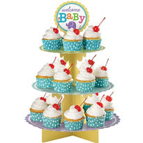 Gender Neutral Welcome Baby Cupcake Stand