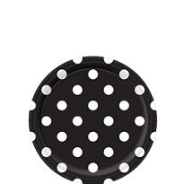 Black Polka Dot Dessert Plates 8ct