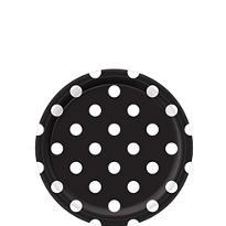 Black Polka Dot Dessert Plates 8ct