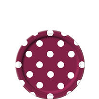 Berry Polka Dot Dessert Plates 8ct