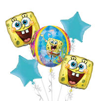 SpongeBob Balloon Bouquet 5pc - Orbz