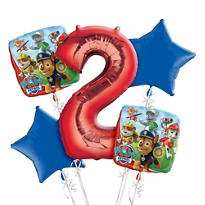 PAW Patrol 2nd Birthday Balloon Bouquet 5pc