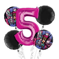 Monster High 5th Birthday Balloon Bouquet 5pc