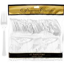 CLEAR Premium Plastic Forks 48ct