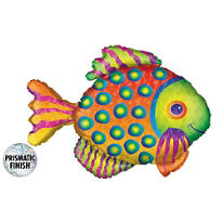 Foil Prismatic Tropical Fish Balloon 33in