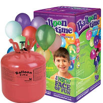 Helium Tank Kit with 30 Latex Balloons