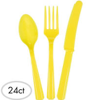 Yellow Cutlery Set 24ct
