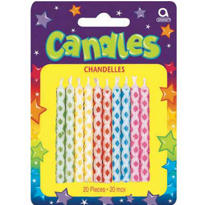Diamond Dot Birthday Candles 2in 20ct