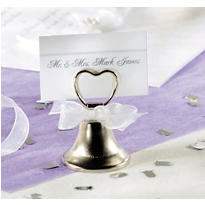 Bell Place Card Holder Wedding Favor
