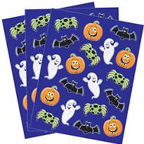 Glitter Halloween Stickers 3 Sheets