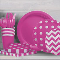 Bright Pink Polka Dot Party Supplies