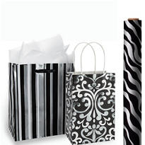 Black Gift Bags & Gift Wrap