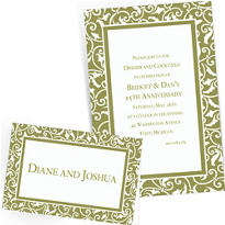 Custom Leaf Green Wedding Invitations & Thank You Notes