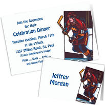Custom Hockey Invitations & Thank You Notes
