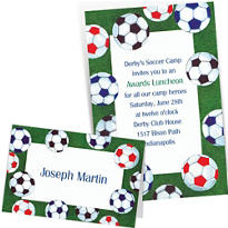 Custom Soccer Invitations & Thank You Notes