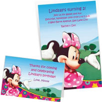 Custom Minnie Mouse Invitations & Thank You Notes