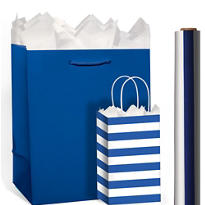 Royal Blue Gift Bags & Gift Wrap