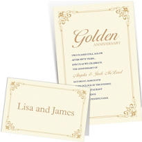 Custom 50th Anniversary Invitations & Thank You Notes