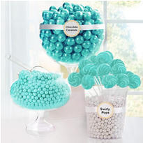 Robin Egg Blue Candy Buffet