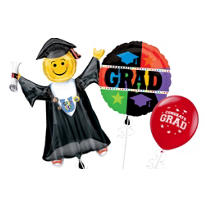 Bright Grad Graduation Balloons