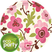 Linen Floral Party Supplies