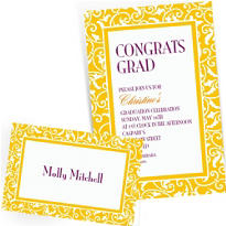 Custom Yellow Wedding Invitations & Thank You Notes
