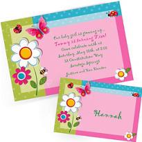 Custom Garden Girl Invitations & Thank You Notes
