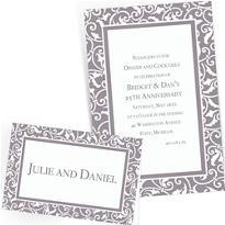 Silver Custom Wedding Invitations & Banners