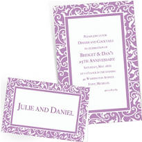 Lavender Custom Wedding Invitations & Banners