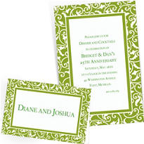 Custom Kiwi Green Wedding Invitations & Thank You Notes